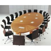 Table de conférence elliptique gamme Bois, placage merisier