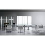 Table de réunion carrée en verre Must