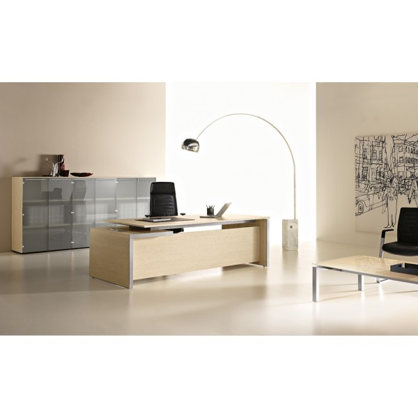 bureau de direction eos finition bois clair bambou. Black Bedroom Furniture Sets. Home Design Ideas